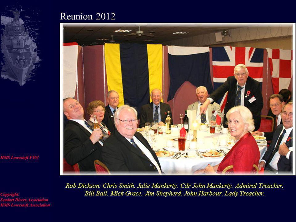 Steve Speight, Steve Cable, Mrs Cable, Alison Chestnutt, Captain Chestnutt, Richie Farman, Irene Ballantine, Reunion 2012