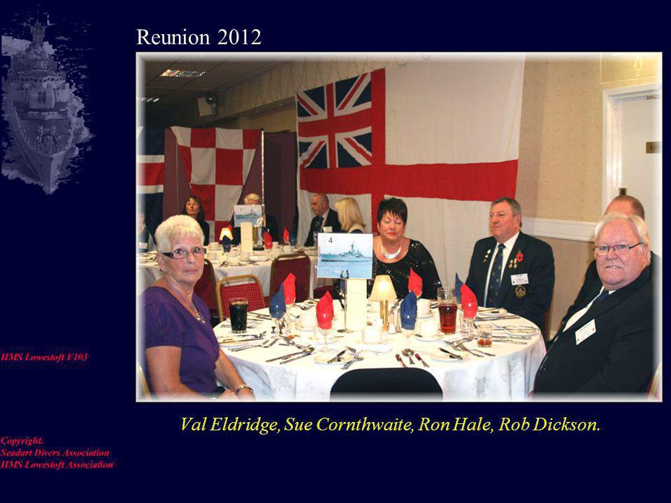 Jim Reeves, Alan Stevens, David Skipper, Geoff Little, Len Coling, Brian Edwards, Anne Edwards Reunion 2012