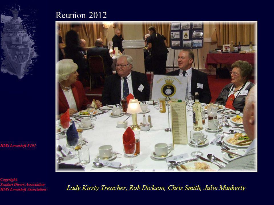 Val Eldridge, Sue Cornthwaite, Ron Hale, Rob Dickson. Reunion 2012