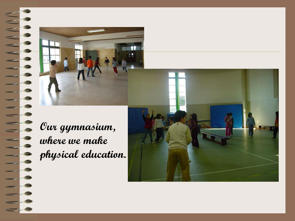 Our gymnasium, where we make physical education.