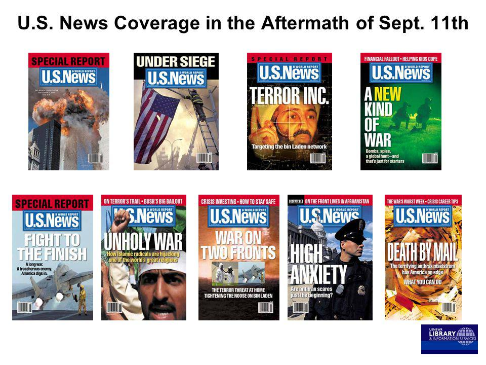 U.S. News Coverage in the Aftermath of Sept. 11th