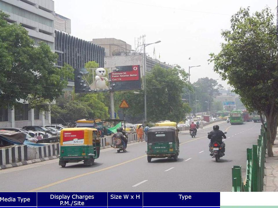 Times Of India Building ITO Media Type Display Charges P.M./Site Size W x HType Unipole Rs.20x8 Front Lit