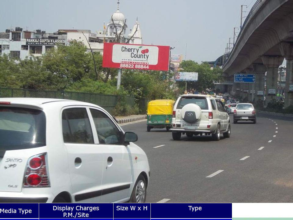 Vikash Marg laxmi Nagar Media Type Display Charges P.M./Site Size W x HType Unipole Rs.20x8 Front Lit