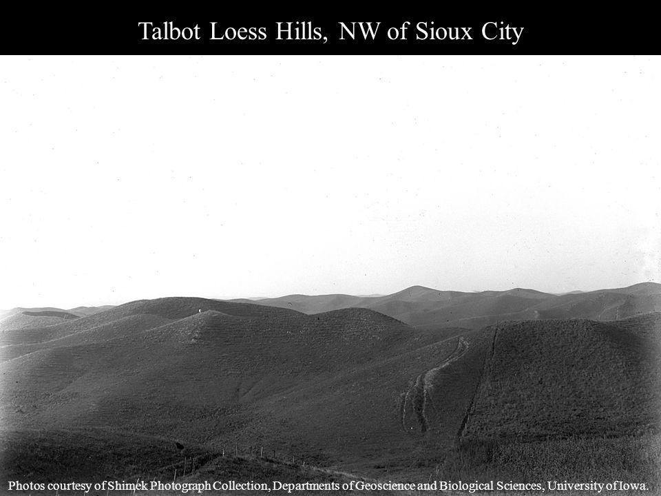 Talbot Loess Hills, NW of Sioux City Photos courtesy of Shimek Photograph Collection, Departments of Geoscience and Biological Sciences, University of