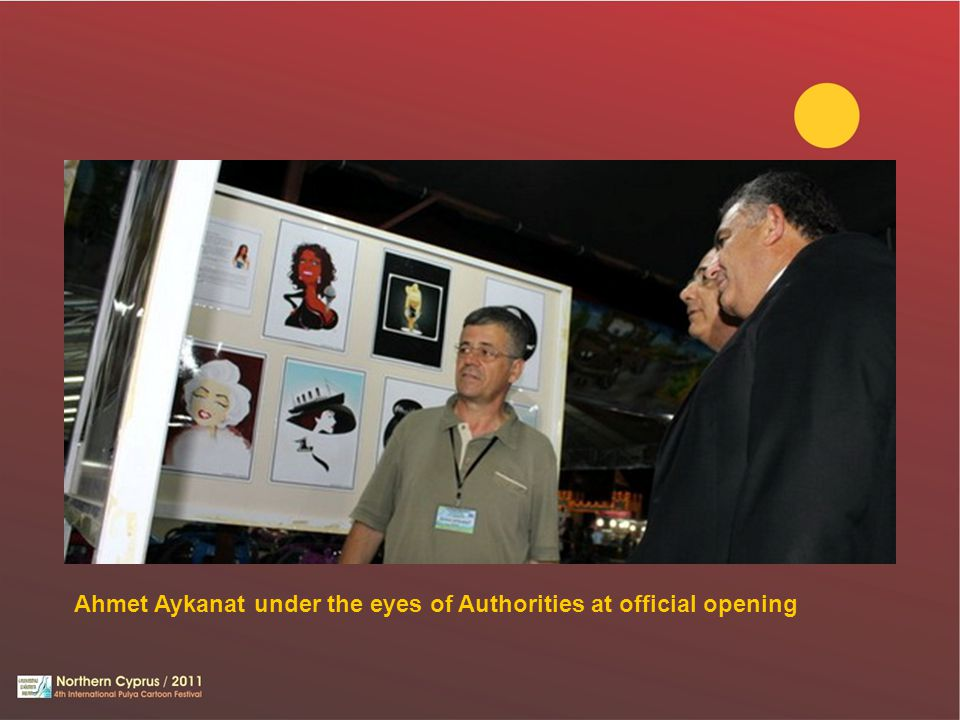 Ahmet Aykanat under the eyes of Authorities at official opening