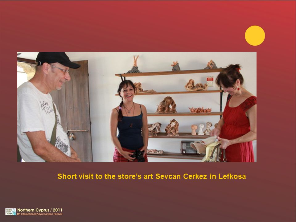Short visit to the stores art Sevcan Cerkez in Lefkosa