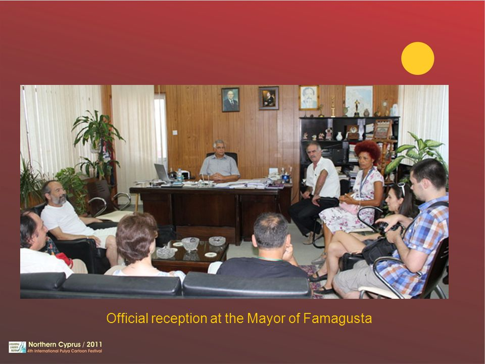 Official reception at the Mayor of Famagusta