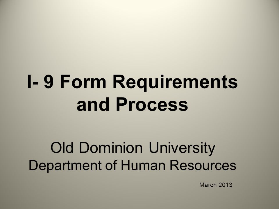 REASONS AN I-9 WILL NOT BE CERTIFIED An old version of the I-9 form is used (prior to 03/31/16).