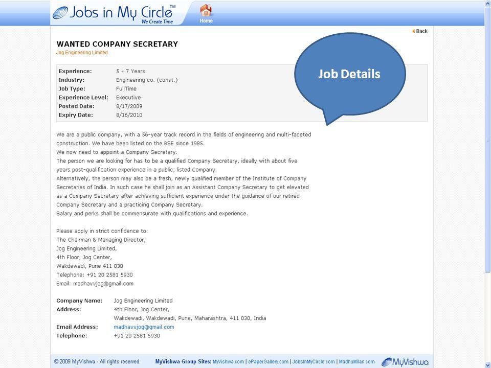 Job Details