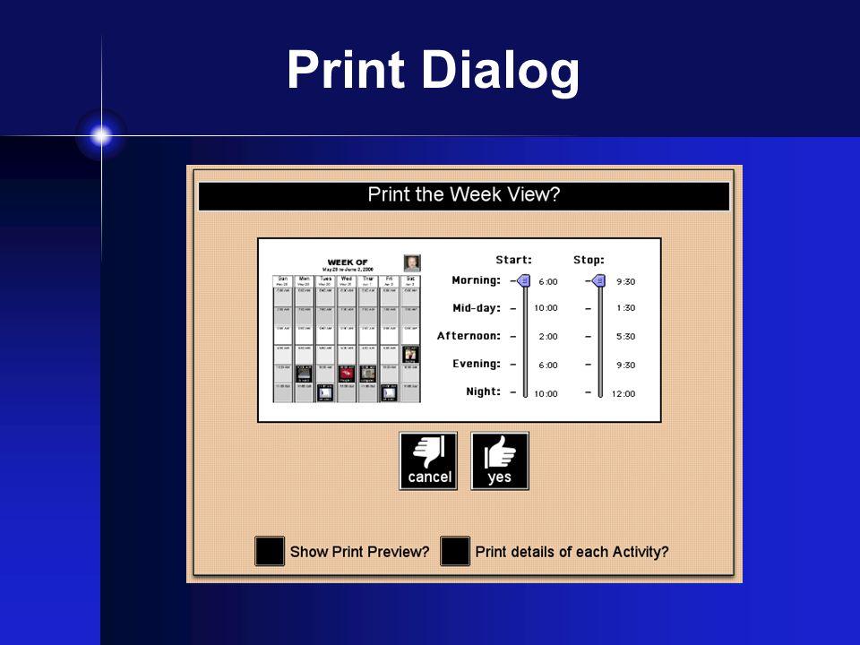 Print Dialog