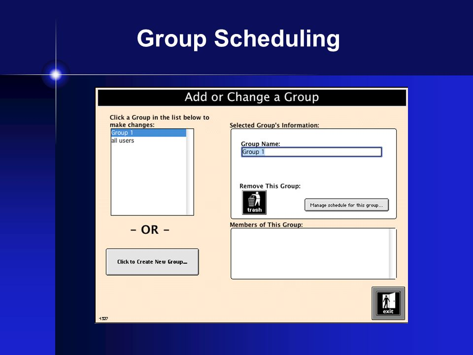 Group Scheduling