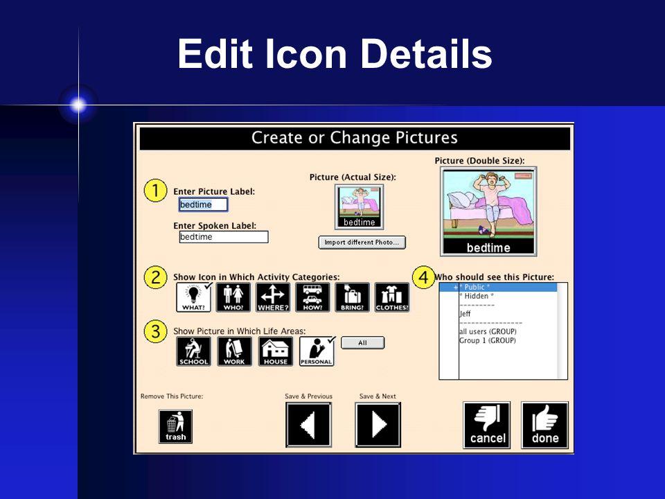 Edit Icon Details