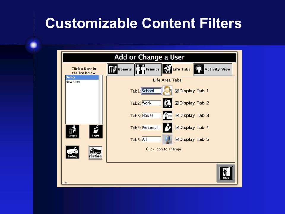Customizable Content Filters