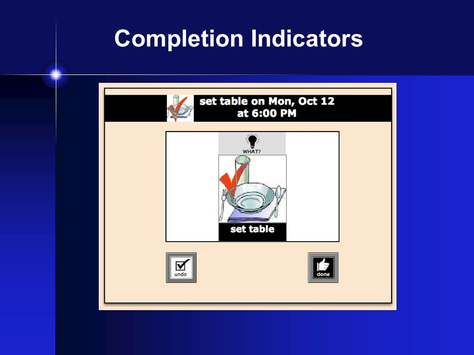 Completion Indicators