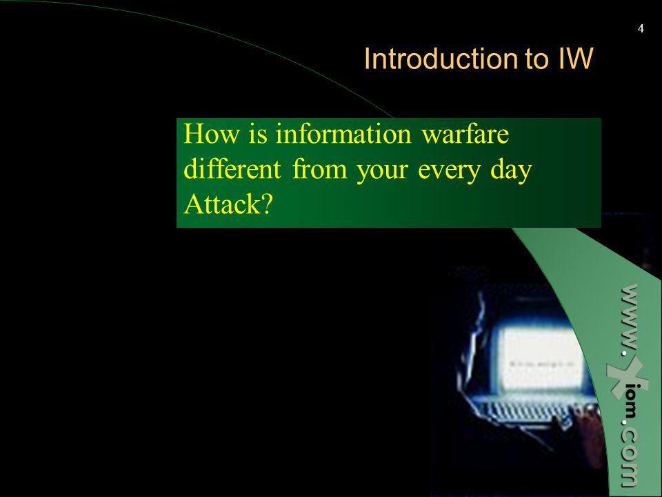 www..com 3 Presentation Headlines How is information warfare different? Information Warfare Targets Attacker capabilities The infrastructure organizat
