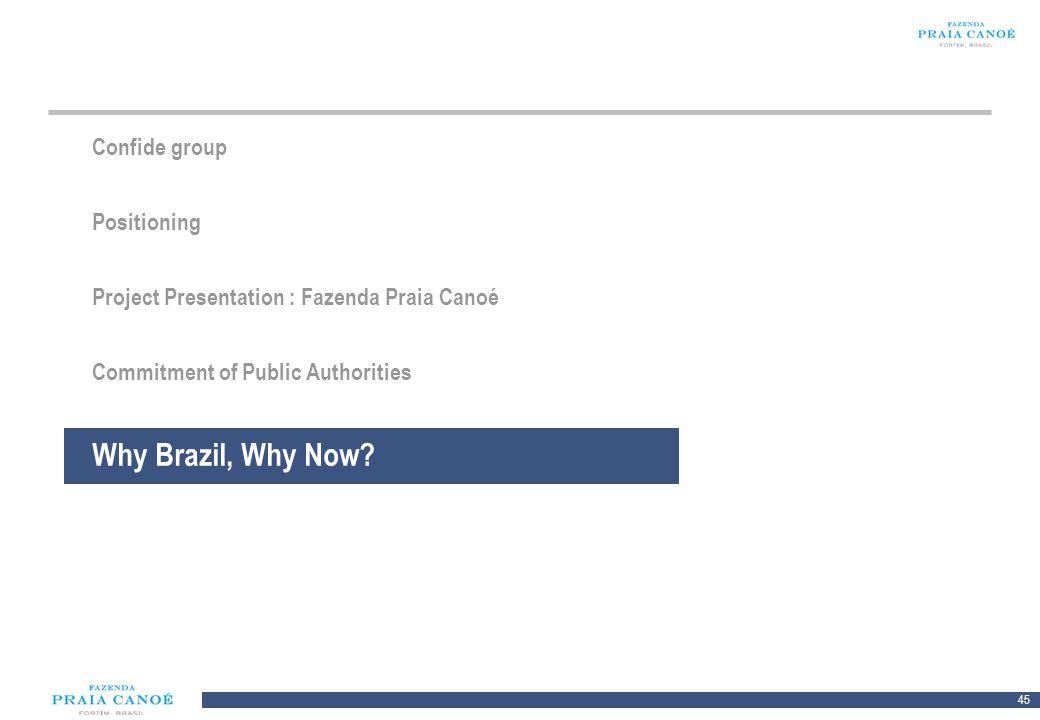 45 10/H/080468/2/Plan Comercial FPC_081113/SR Confide group Positioning Project Presentation : Fazenda Praia Canoé Commitment of Public Authorities Wh