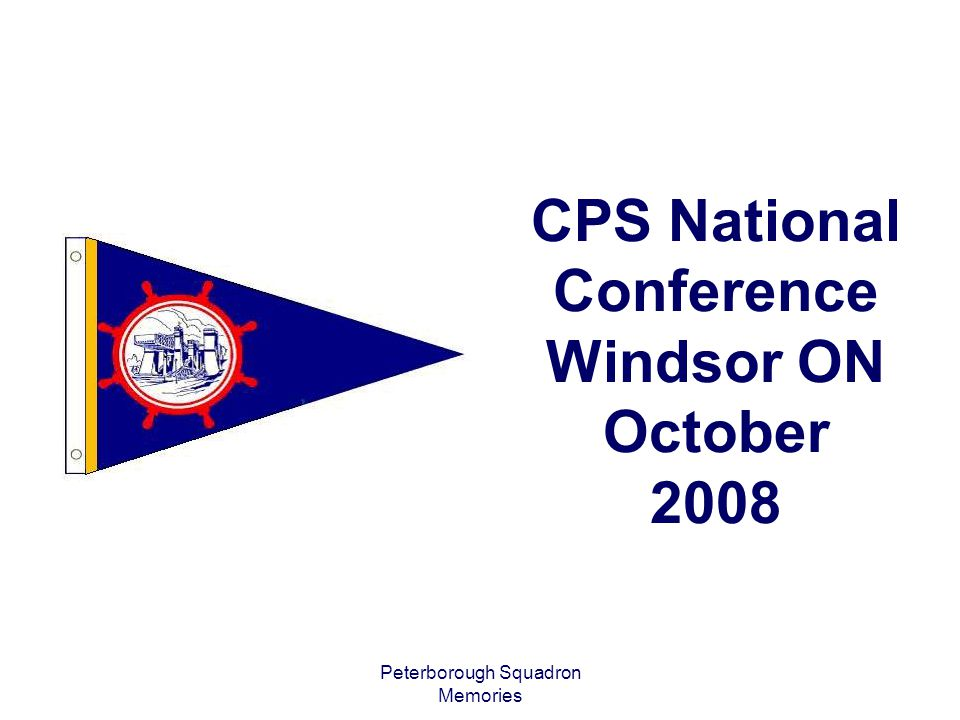 CPS National Conference Windsor ON October 2008