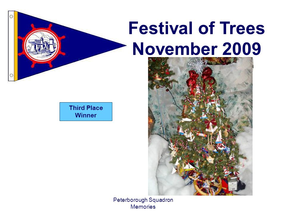 Peterborough Squadron Memories Festival of Trees November 2009 Third Place Winner