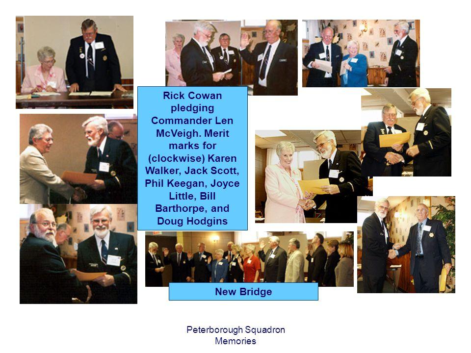 Peterborough Squadron Memories Rick Cowan pledging Commander Len McVeigh.