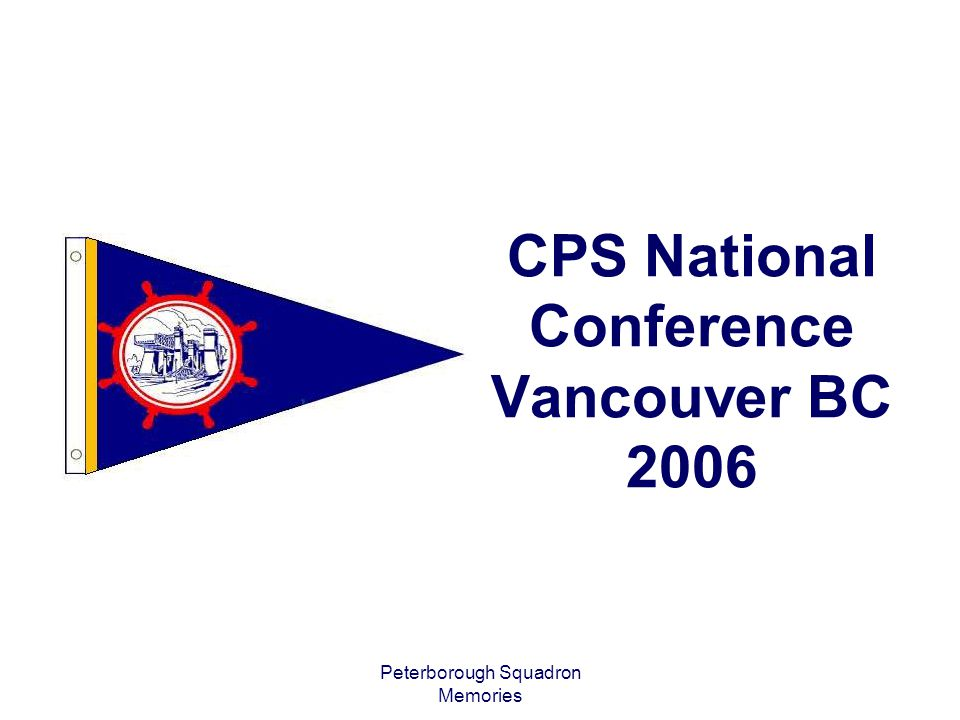 CPS National Conference Vancouver BC 2006