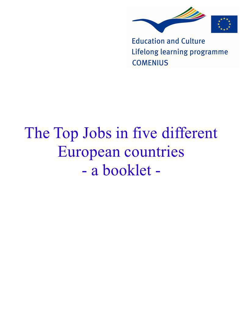 The Top Jobs in five different European countries - a booklet -