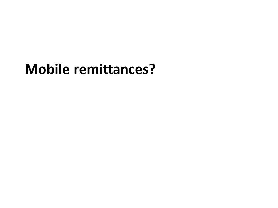 Mobile remittances
