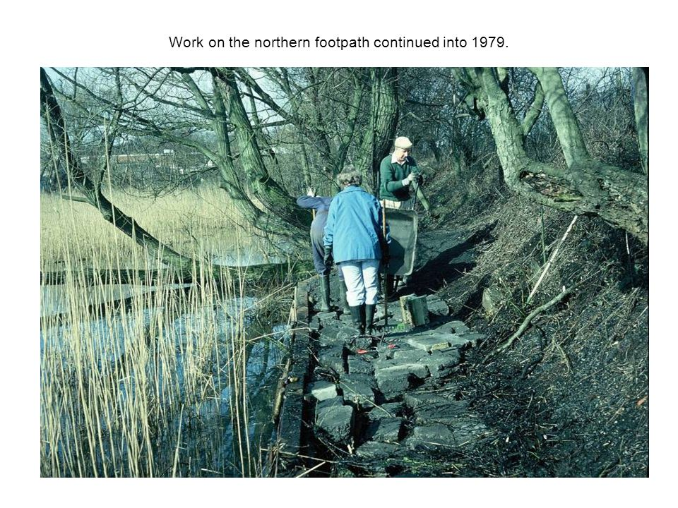 Work on the northern footpath continued into 1979.