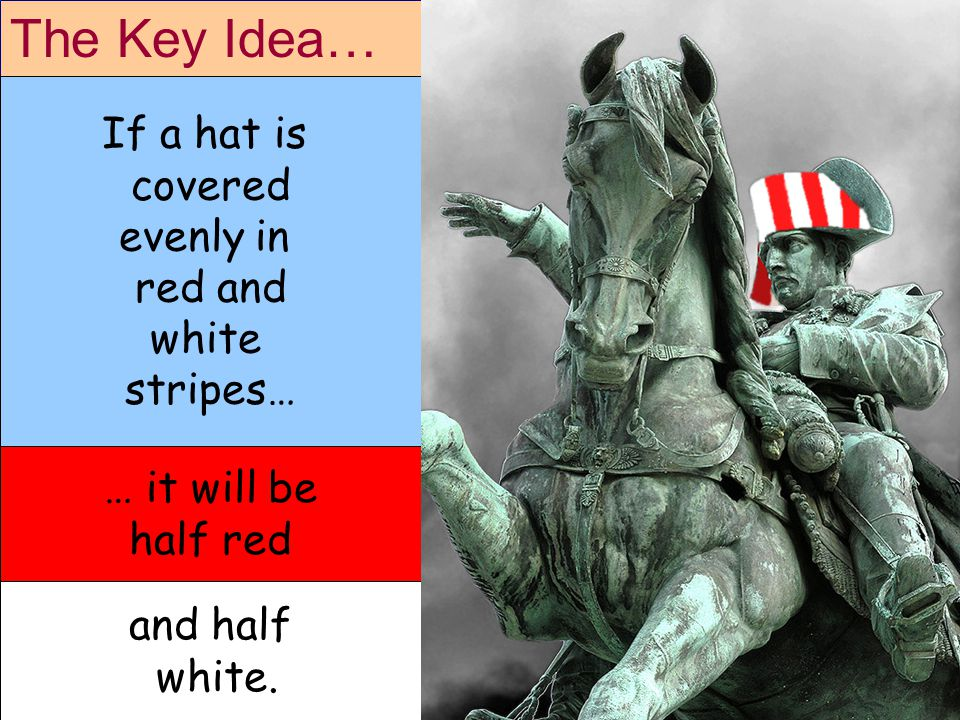 The Key Idea… … it will be half red and half white.