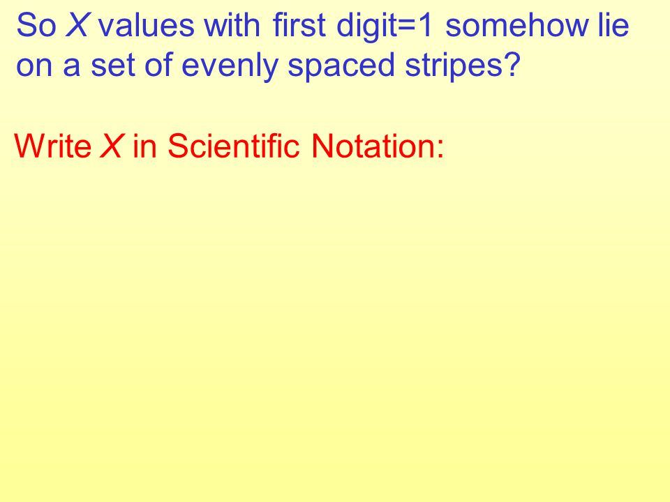 So X values with first digit=1 somehow lie on a set of evenly spaced stripes.