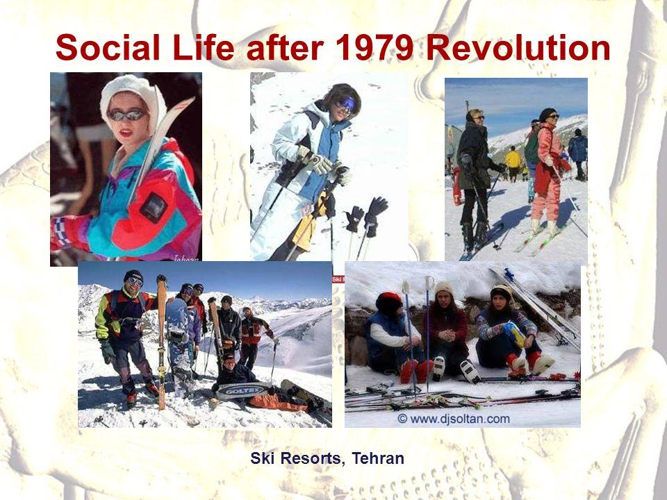 Social Life after 1979 Revolution Ski Resorts, Tehran