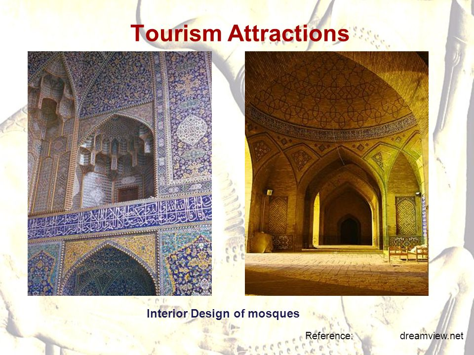 Tourism Attractions Reference: dreamview.net Interior Design of mosques