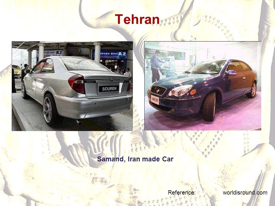 Tehran Reference: worldisround.com Samand, Iran made Car