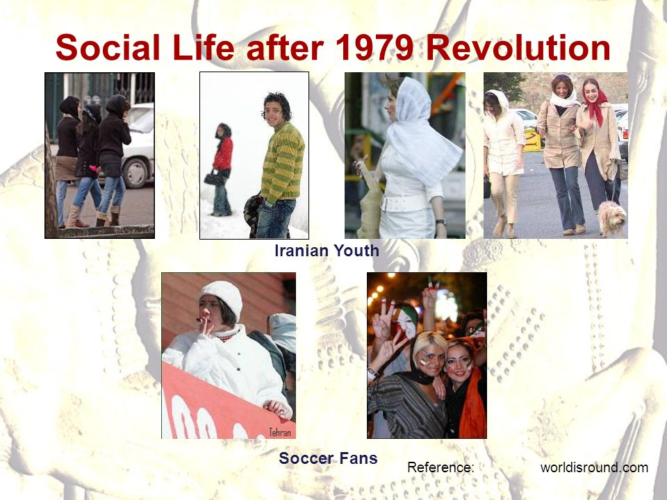 Social Life after 1979 Revolution Reference: worldisround.com Iranian Youth Soccer Fans