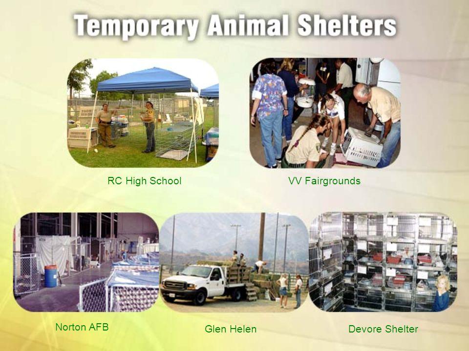 RC High SchoolVV Fairgrounds Norton AFB Glen HelenDevore Shelter