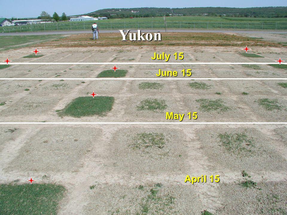 Yukon May 15 July 15 April 15 June 15