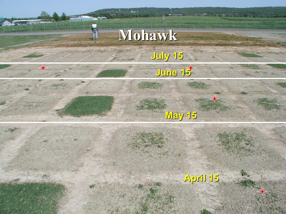 Mohawk May 15 July 15 April 15 June 15