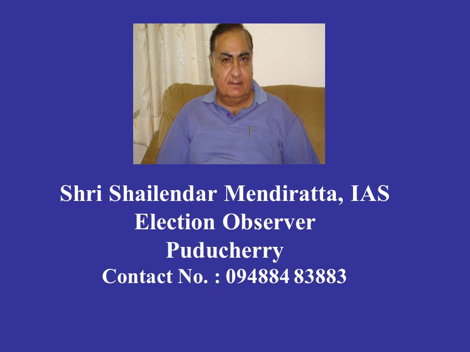 1.Thiru S.Kumara Swamy, Chief Electoral Officer, Govt.