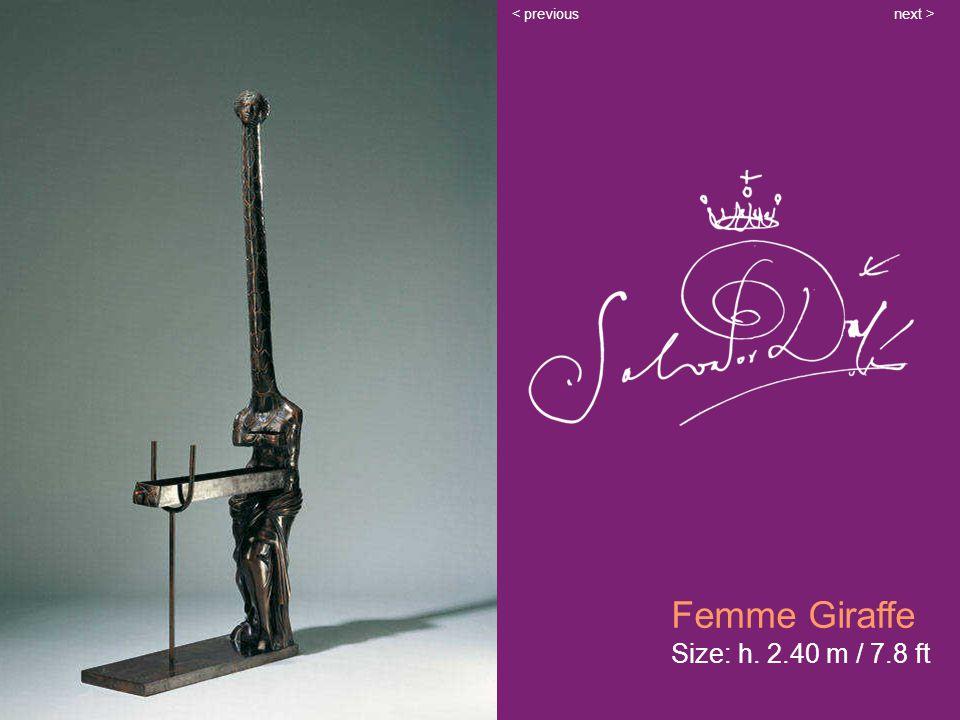 Femme Giraffe Size: h. 2.40 m / 7.8 ft next >< previous