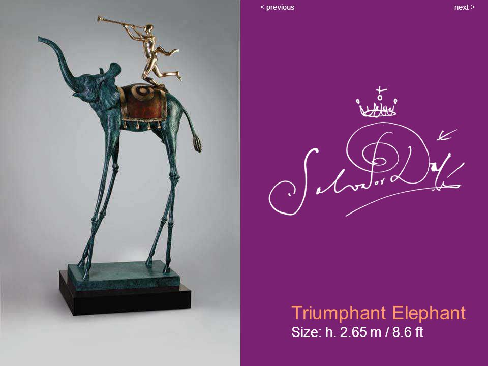 Triumphant Elephant Size: h. 2.65 m / 8.6 ft next >< previous