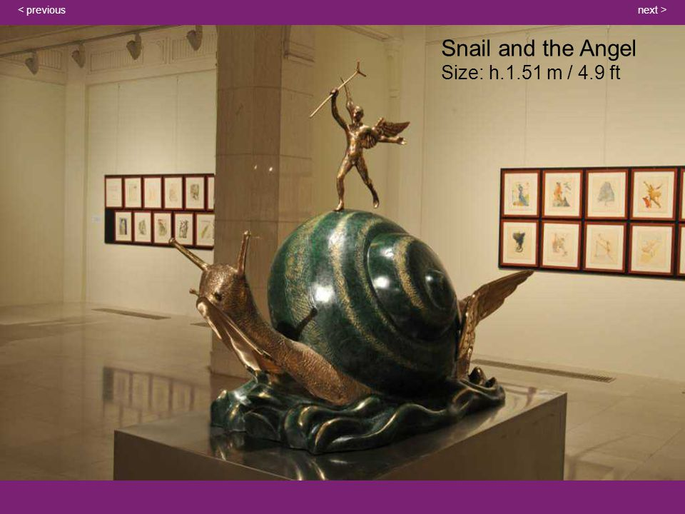 Snail and the Angel Size: h.1.51 m / 4.9 ft next >< previous