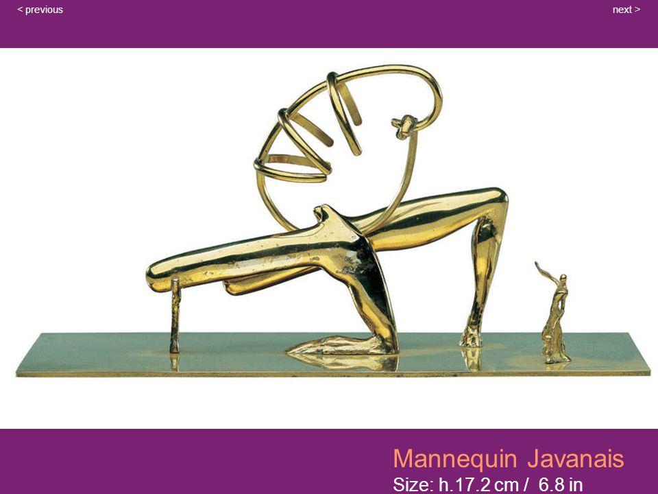 Mannequin Javanais Size: h.17.2 cm / 6.8 in next >< previous