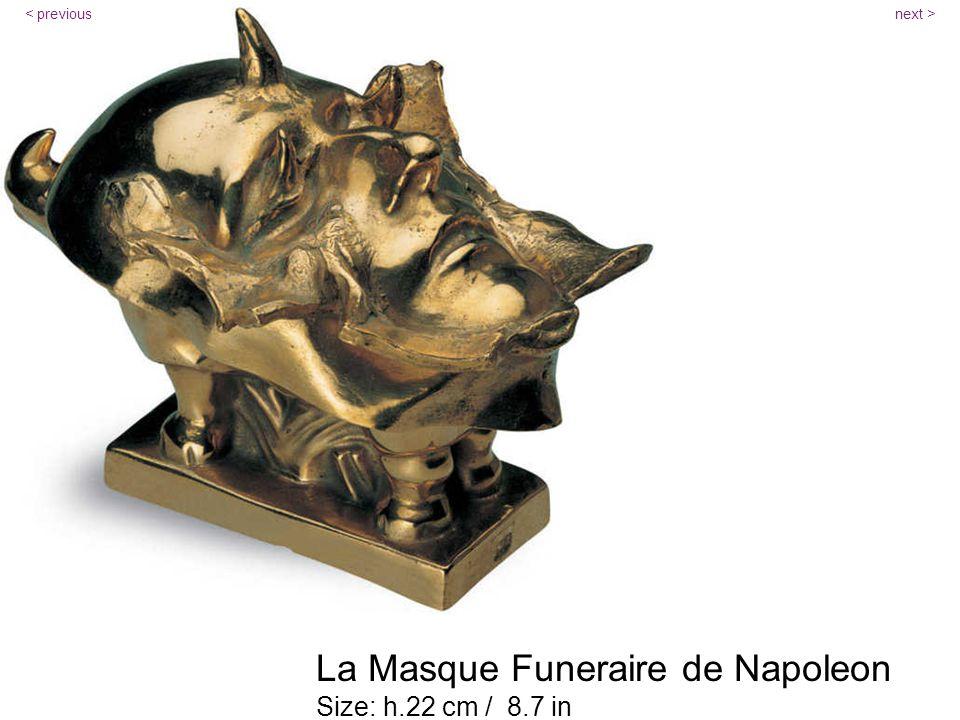 La Masque Funeraire de Napoleon Size: h.22 cm / 8.7 in next >< previous