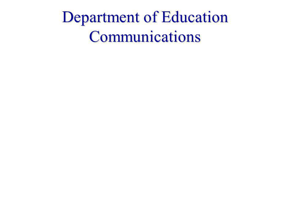 Department of Education Communications