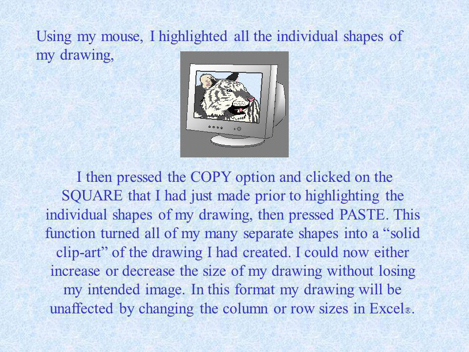 This enabled me to get a good close-up view for creating the drawing. I then used different shades of grey to give the illusion of a 3-D look. Once AL