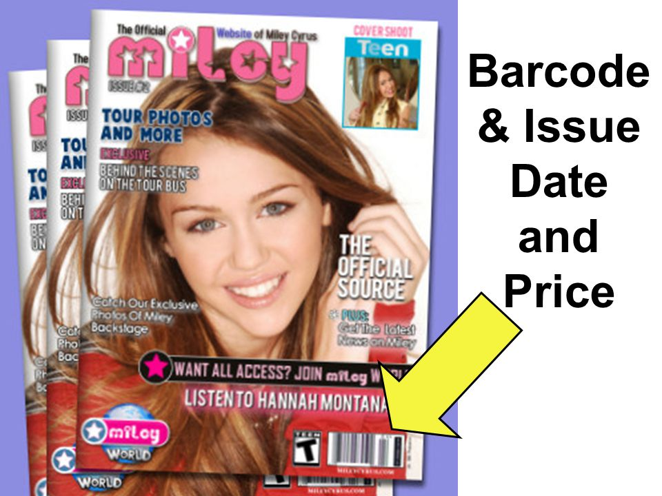Barcode & Issue Date and Price