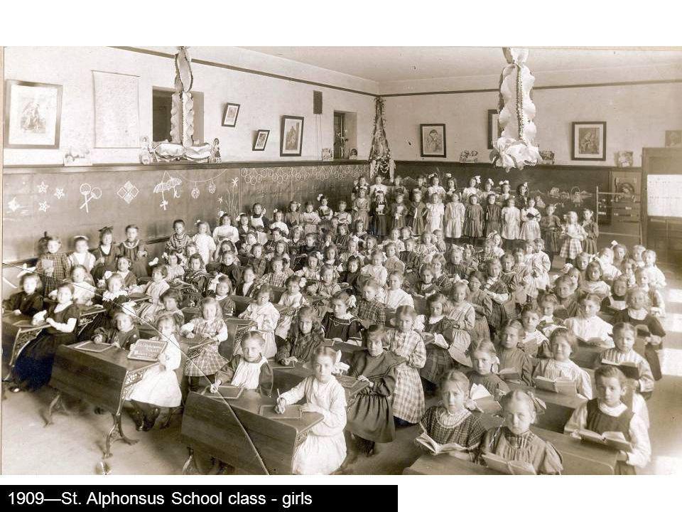 1909St. Alphonsus School class - girls