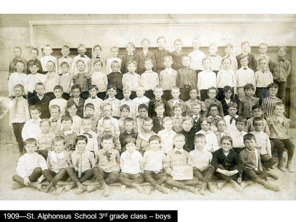 1909St. Alphonsus School 3 rd grade class – boys