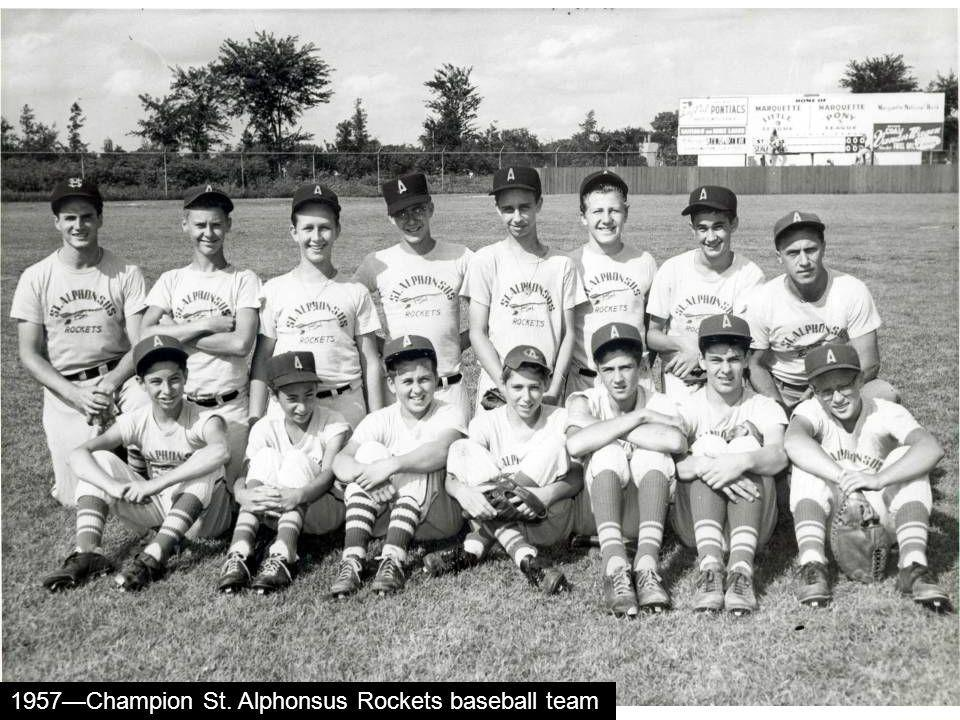 1957Champion St. Alphonsus Rockets baseball team