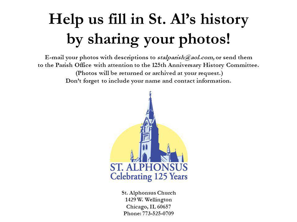 Help us fill in St. Als history by sharing your photos.