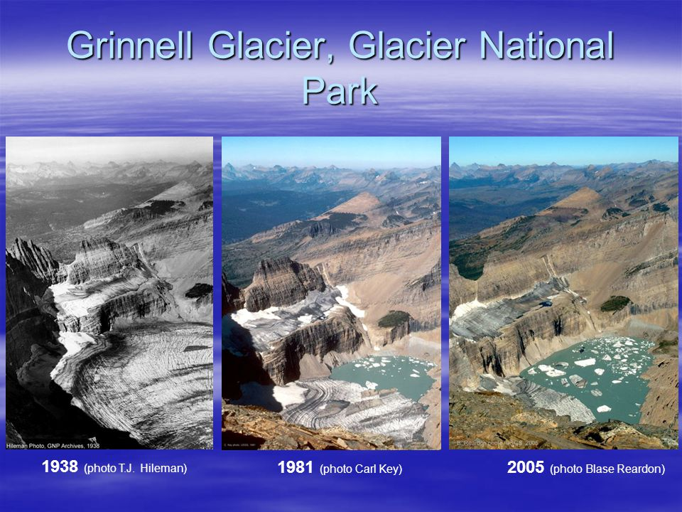 Grinnell Glacier, Glacier National Park 1938 (photo T.J.